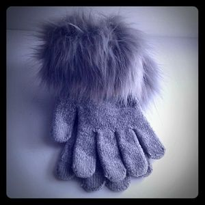 Marcus Adler Gloves with Faux Fur Trim